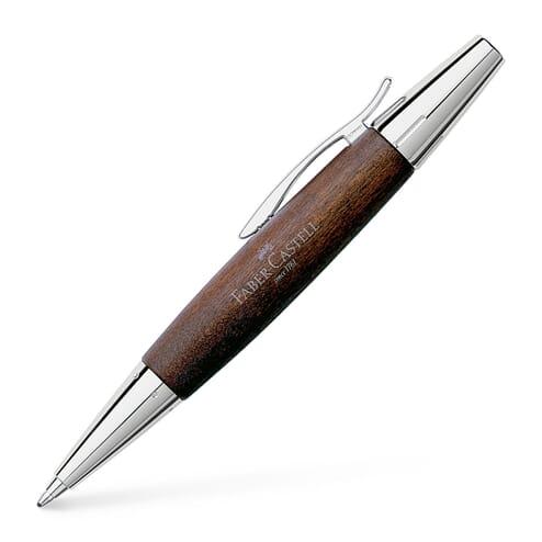 Faber Castell E-Motion Dark Brown Wood Balpen