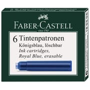 Faber-Castell Vulpen Inkt Cartridges 6 pack Royal Blue