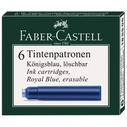 Faber-Castell Fountain Pen Ink Cartridges 6 pack Royal Blue