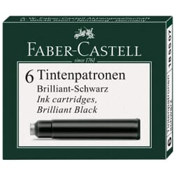 Faber-Castell Fountain Pen Ink cartridges 6 pack Black