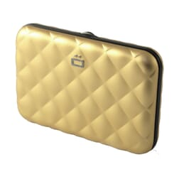 Ögon Quilted Button Card Case Gold
