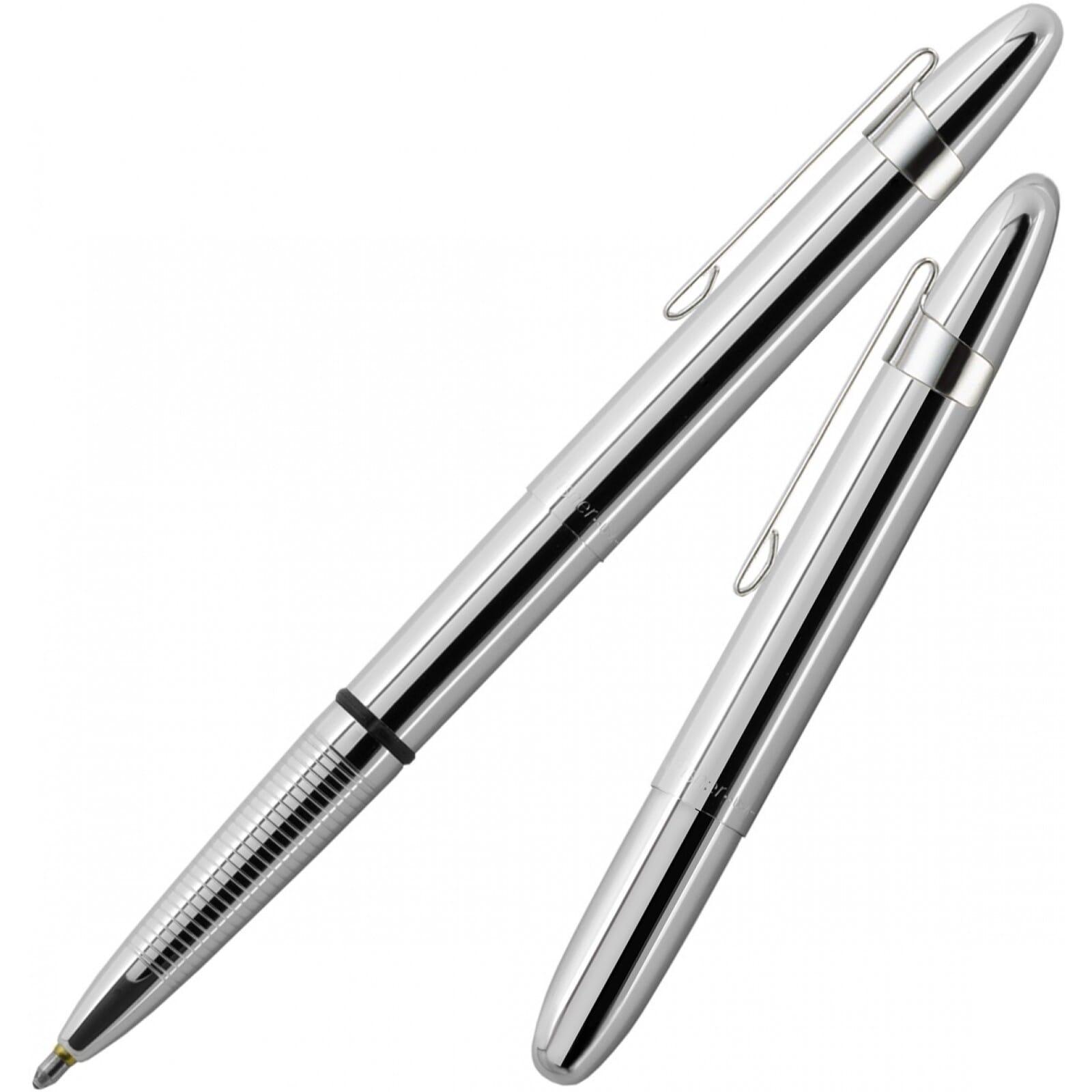 Fisher Space Pen Bullet Style Chrome Pressurized Black Ink Medium Point