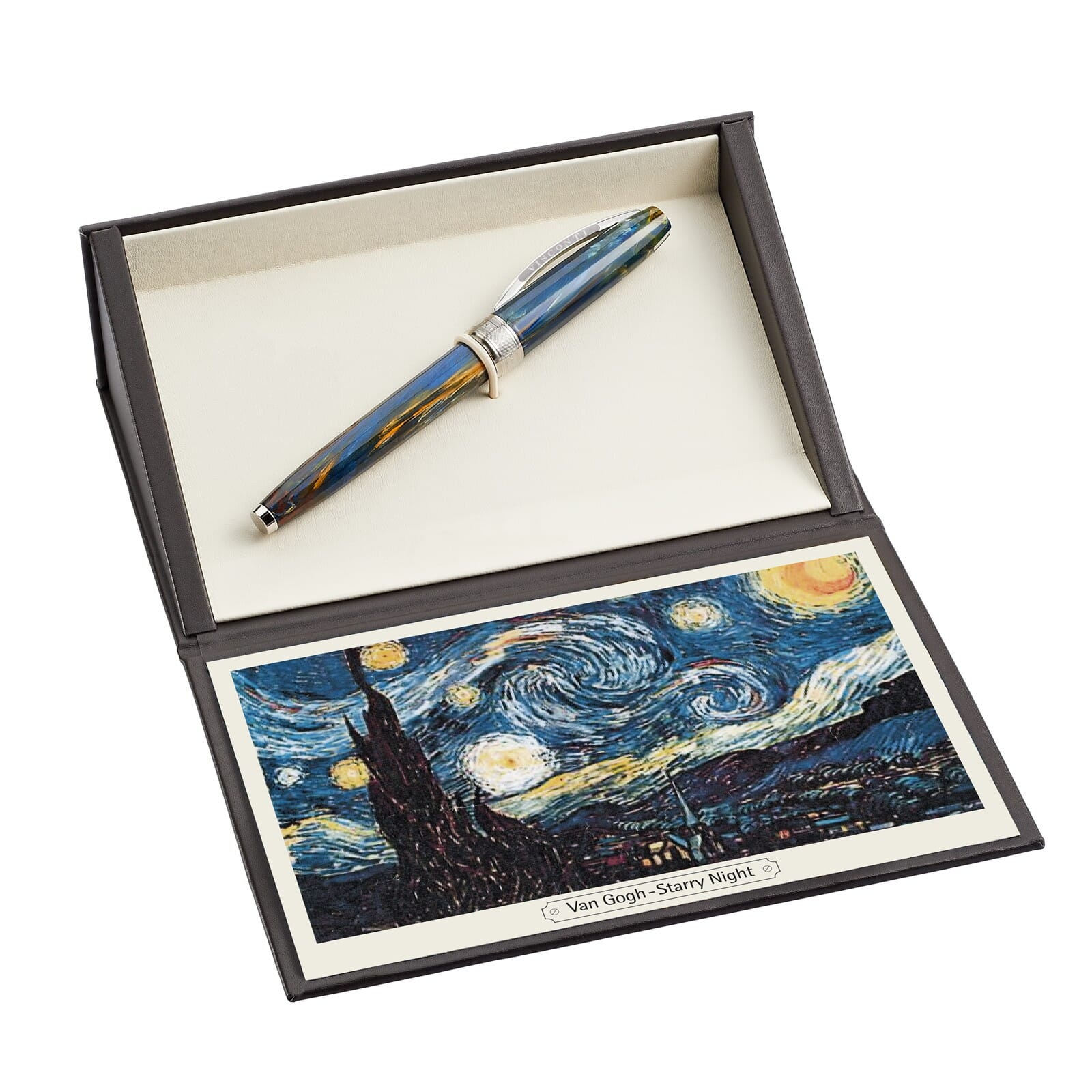 Van Gogh The Starry Night Chrome Money Clip