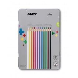 Lamy plus 12 delige set metalen doos