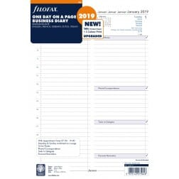 Filofax A4 Day per Page Diary 2020