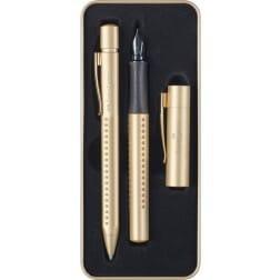 Faber Castell Grip Edition Gold Edition Set Balpen en Vulpen