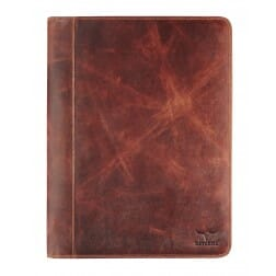 Maverick A4 Writing Pad with Zipper Dark Brown