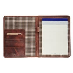 Maverick A5 Writing Pad without Zipper Dark Brown