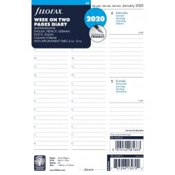 Filofax A5 Week on Two Pages Diary 5 Multilanguage 2020