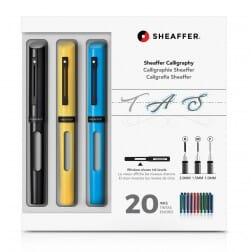 Sheaffer Calligrafieset Maxi Zwart, Geel en Blauw