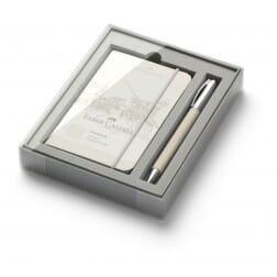 Faber Castell Ambition OpArt White Sand Balpen met gratis notitieboek
