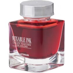 Platinum Mixable Ink Bottle Flame Red
