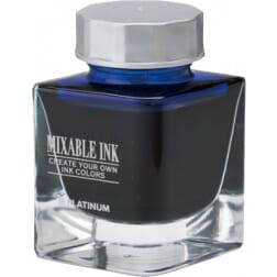 Platinum Mixable Ink Bottle Aurora Blue