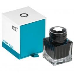Montblanc Ink Bottle Maya Blue