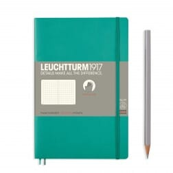 Leuchtturm1917 Slim B6+ Softcover Emerald Dotted Notebook