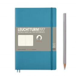 Leuchtturm1917 Slim B6+ Softcover Nordic Blue Dotted Notebook