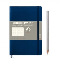 Leuchtturm1917 Slim B6+ Softcover Navy Dotted Notebook