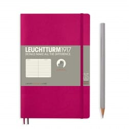 Leuchtturm1917 Slim B6+ Softcover Berry Ruled Notebook