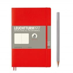 Leuchtturm1917 Slim B6+ Softcover Red Dotted Notebook