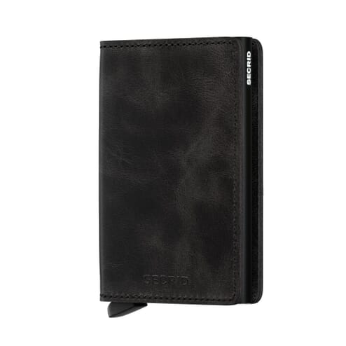 Secrid Slim Wallet Leather Black Vintage