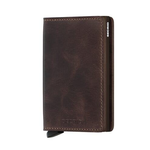 Secrid Slim Wallet Leather Chocolate Vintage