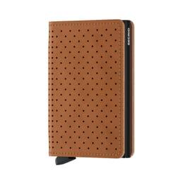 Secrid Slim Wallet Leather Perforated Cognac