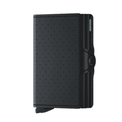 Secrid Twin Wallet Leather Perforated Black